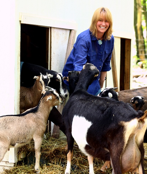 Secret Garden owner with goats_small