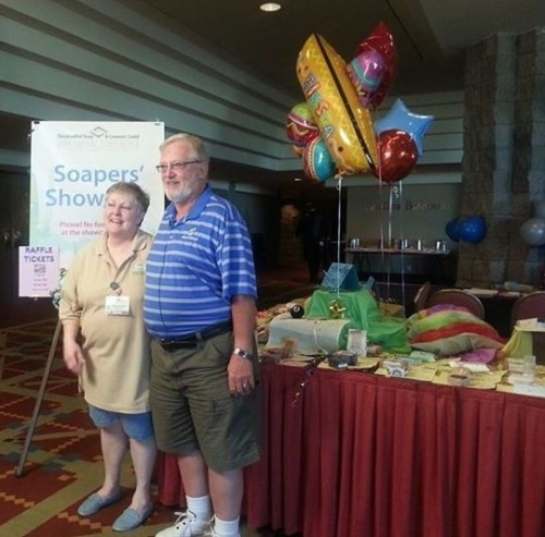 soapers'-showcase-coordinator-rose-with-bill-shay-of-Shay-and-Company
